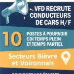 flyer de recrutement de l'entreprise vfd pour 10 postes de conducteurs de car